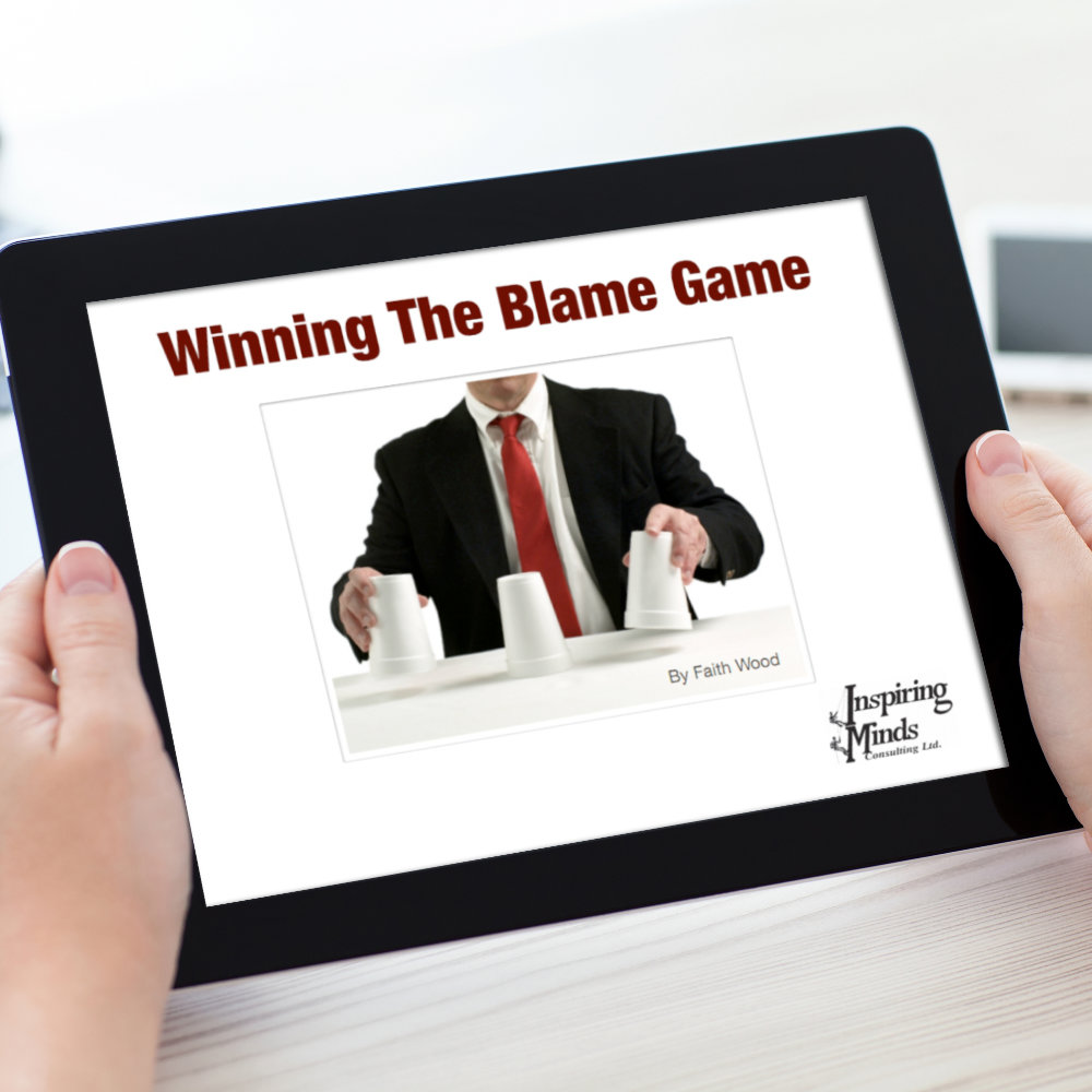 How do you stop your employees from playing the blame game? Through coaching, one-on-one instruction, keynote talks, and instruction in everything from communication skills to interpersonal skills. But first let's look at how the blame game works and why.