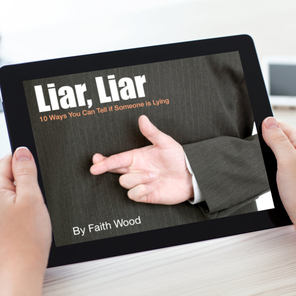 Unless you know the signs it's hard to tell when someone is lying. And while nothing, not even a lie detector, can tell beyond a shadow of a doubt that someone is lying, you can get a pretty good idea about who is telling the truth if you know what to look for. This free ebook outlines the most basic and obvious signs that indicate deception.
